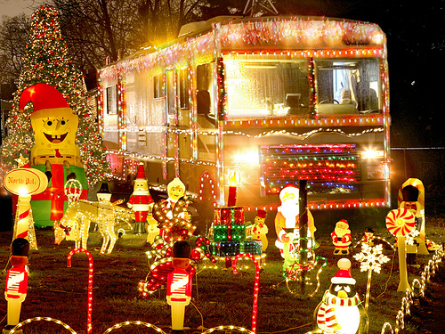 christmas lights on an rv