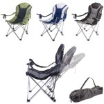 Picnic Time Portable RECLINING Camping Chair