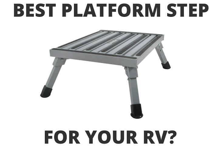 RV platform step stool