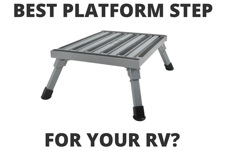 RV platform step stool