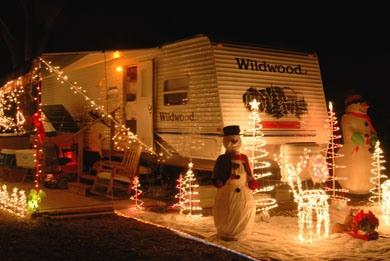RV Christmas decorations