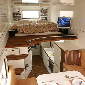 Introducing the unicat one extreme rv for Very small house interior design ideas