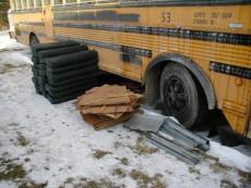 School Bus RV Conversion Before