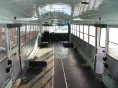 School Bus RV Conversion Gutted Int
