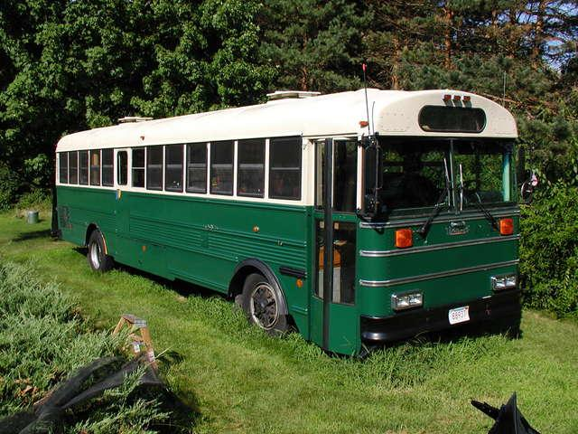 School Bus To RV Conversion From An Old Yellow Bus