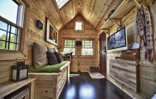 tiny house rv on wheels to make a truly mobile home. Black Bedroom Furniture Sets. Home Design Ideas
