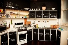 RV Mod Refrigerator Chalkboard Vinyl 4