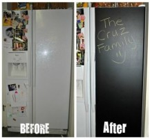 RV Mod Refrigerator Chalkboard Vinyl 5
