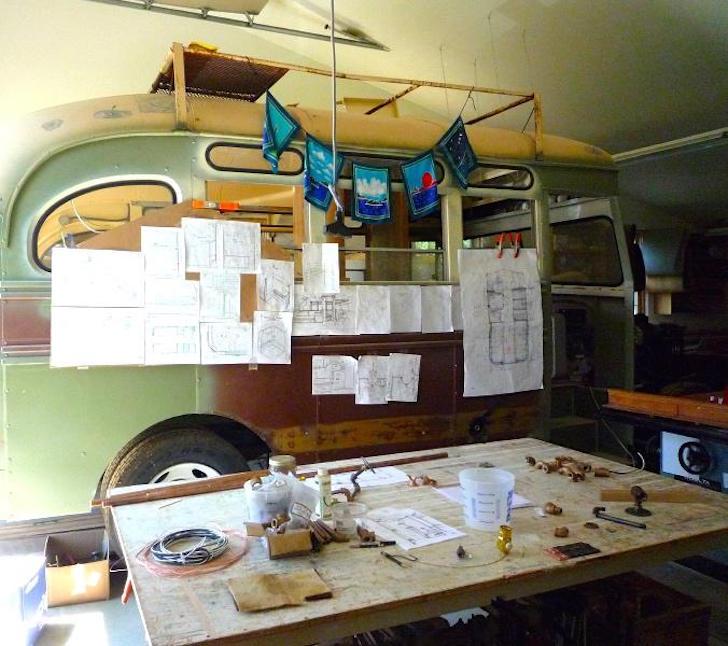 Rebuilding a vintage bus into a motorhome