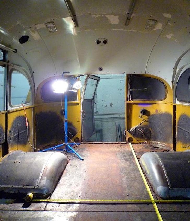 Restoring a vintage short bus