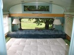 School Bus RV Conversion Finished Bedroom