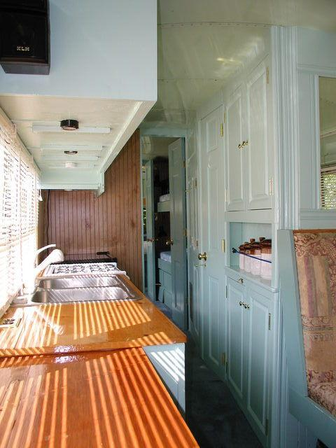 School Bus RV Conversion Finished Kitchen