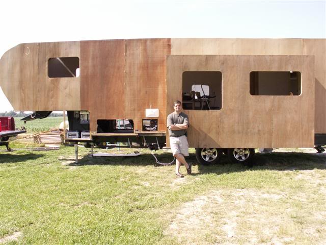 Adding paneling to the trailer
