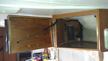 Cabinet Door Mount 2 RV TV MOUNT