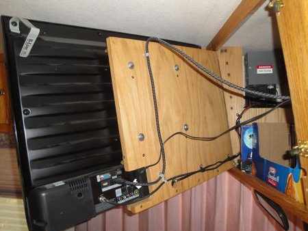 Cabinet Door install RV TV MOUNT
