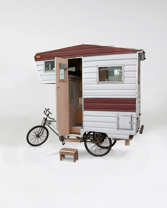 rv art custom pop up camper and camper bike art takes. Black Bedroom Furniture Sets. Home Design Ideas