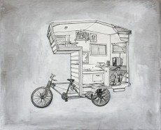 Custom RV Art Camper Bike 8