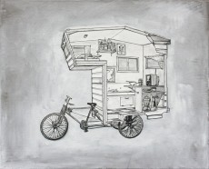 Custom RV Art Camper Bike 8