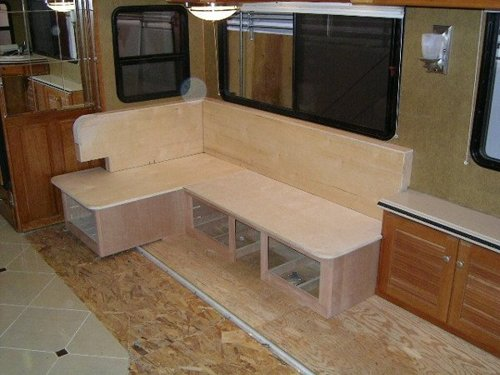 RV Mod One Of A Kind Dinette Table Elegant And Space Saving