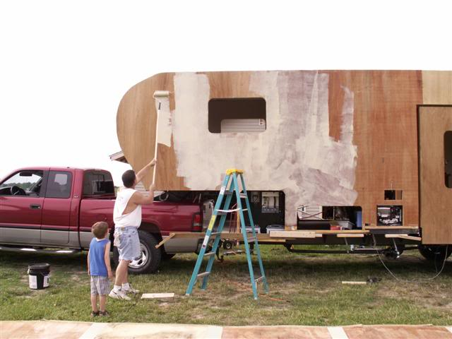 installing fiberglass siding on a diy fifth wheel trailer