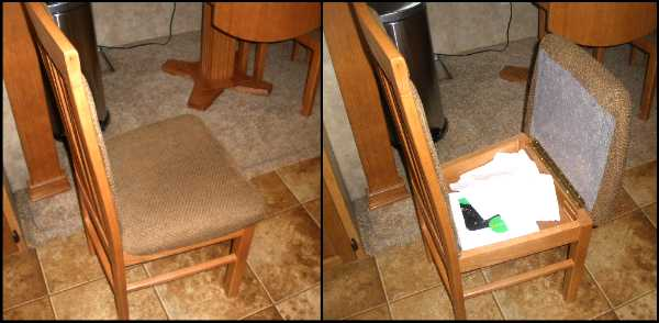 RV Storage Ideas: Dining Chair RV Mod