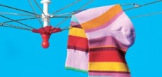 RV Drying Rack Mod: Worn Umbrella to Air Dry Laundry