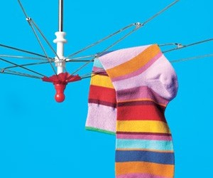 RV Drying Rack Mod: Worn Umbrella to Air Dry Laundry