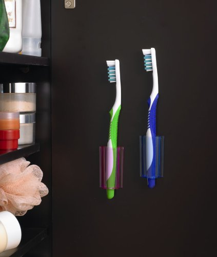 Stick on pods for toothbrush