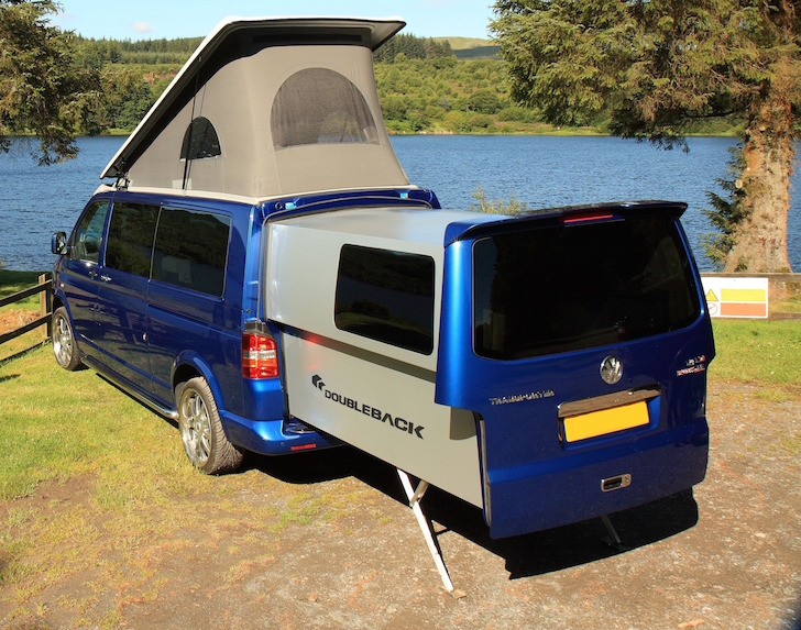 this brazen volkswagen doubleback campervan is built from aircraft grade components. Black Bedroom Furniture Sets. Home Design Ideas
