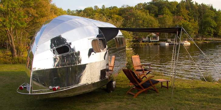 Bowlus trailer in the wild