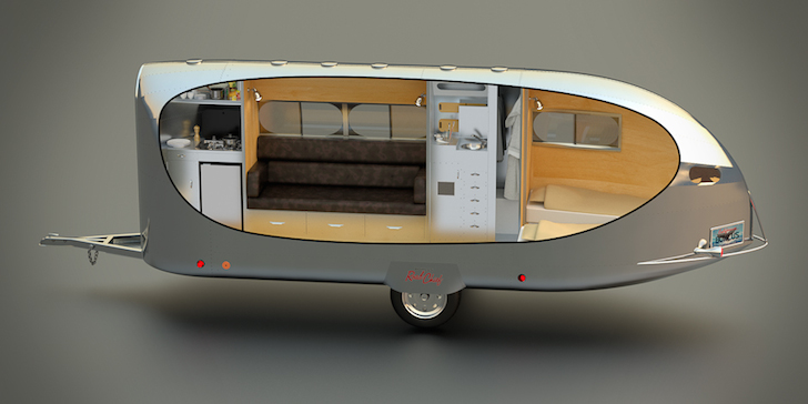 Model of the Bowlus trailer