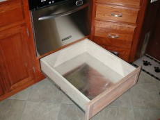 Pots and Pans Drawer RV Mods Stove Oven to Dishwasher