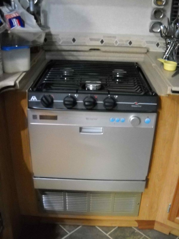 Rv Stove Oven >> Rv Mods Stove Oven To Dishwasher Conversion Re Purpose Unused Oven