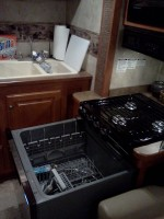 RV Mods Stove Oven to Dishwasher Damon Sport 3