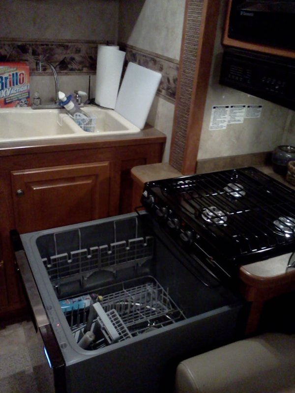 Rv Mods Stove Oven To Dishwasher Conversion Re Purpose