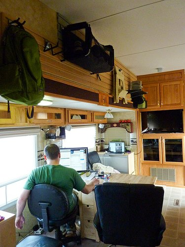 Rv Office Conversion Good Bye Rv Dinette Jayco Eagle 325