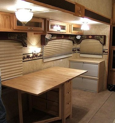 RV Office Conversion: Good Bye RV Dinette