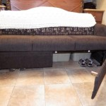 RV Sofa Bed Storage Mod: 2011 Rockwood