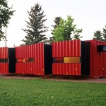 40 Foot Shipping Container Home with 8 Pop-Outs