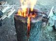 Simple Wood Log Stove: The Laplander Stove