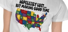 Funny RV T Shirt: Hopelessly Lost…But Making Good Time