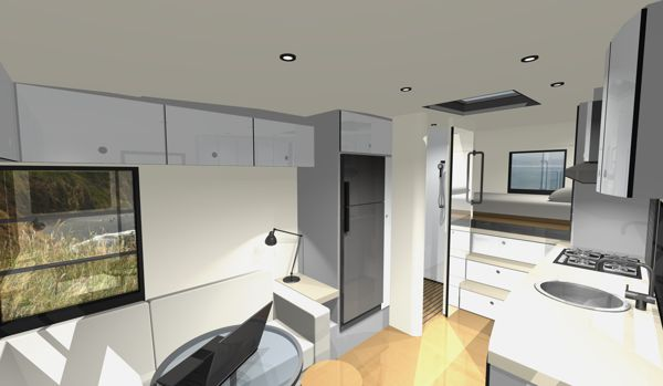 Custom rv designs a residential architect tackles a new for Interior motorhome designs