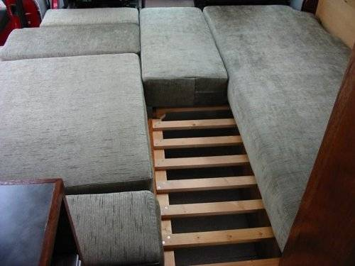 It Turns Out Ian Is A Handy Fellow And Came Up With This RV Sofa Bed Design  Which Is Quite Unique. The Bottom Of The Sofa Seat Pulls Out Using A Slats  ...