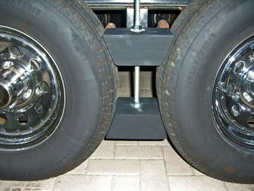 Camper Wheel Chocks >> Custom Made RV Wheel Chocks for Tandem Wheels
