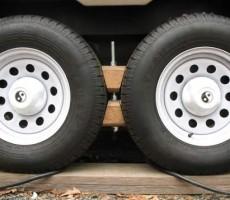 Custom Made RV Wheel Chocks for Tandem Wheels