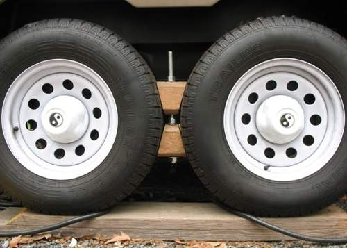 Custom Made RV Wheel Chocks for Tandem Wheels