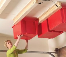 Great Ceiling Storage Idea for a Toy Hauler or RV Basement