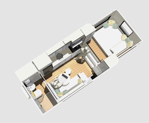 Top down view of my second RV layout