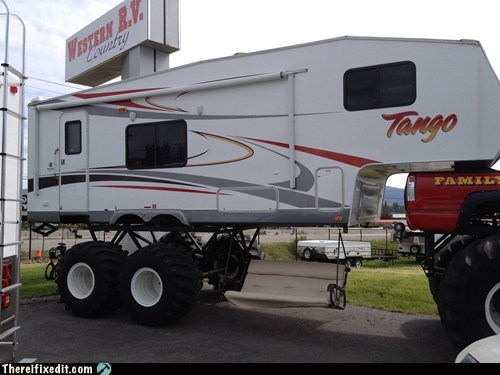Funny RV: Every Monster Truck Deserves A Monster RV