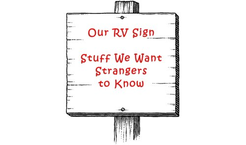 RV Sign Holder: One Way to Display Your Personalized Sign
